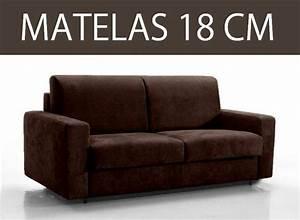 Canapé 3 Places Convertible : canape lit 3 places master convertible rapido 140 cm matelas 18 cm ~ Teatrodelosmanantiales.com Idées de Décoration