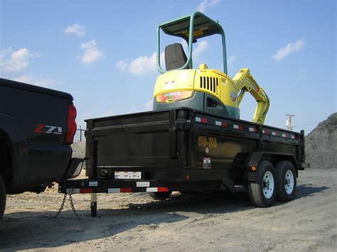 mini excavator   dump trailer wrighttrailersinc flickr