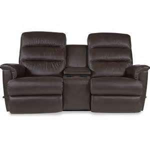 wall saver reclining loveseat with cupholder and storage