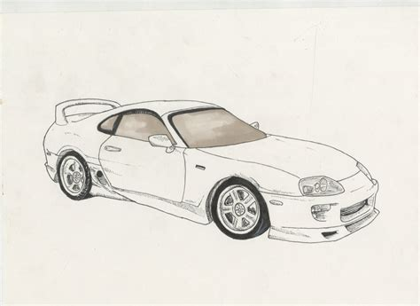 Toyota Supra Sketch By Bombinart On Deviantart