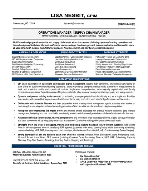 Resume Template For Senior Management by Senior Logistic Management Resume Senior Manager Supply