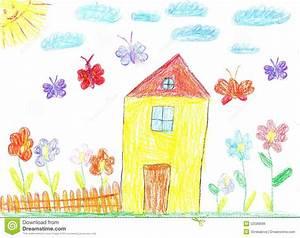 Image D Enfant : l 39 image du dessin d 39 enfant d 39 une maison photo stock image 52589096 ~ Dallasstarsshop.com Idées de Décoration