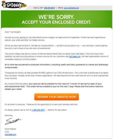 Godaddy Issues Apology