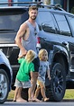 Hollywood actor Chris Hemsworth and wife Elsa Pataky go ...