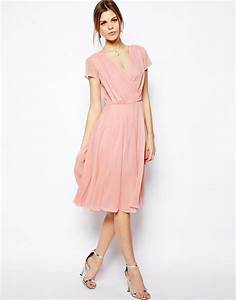 image 4 of asos wrap dress in midi length for wearing With midi length wedding dress