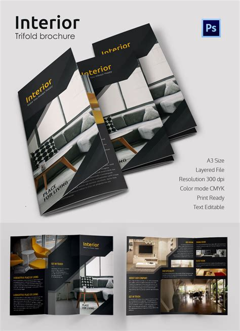 Architecture Brochure Templates by 17 Interior Decoration Brochure Free Word Psd Pdf