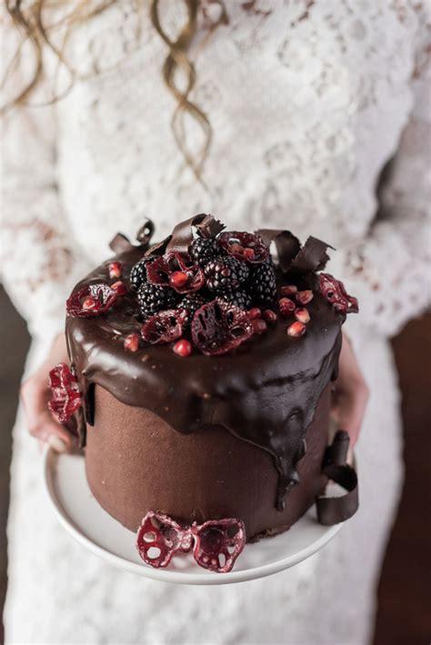 wedding cake with chocolate