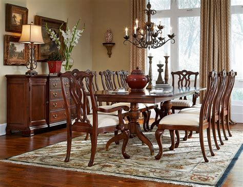cherry grove classic antique cherry pedestal dining room