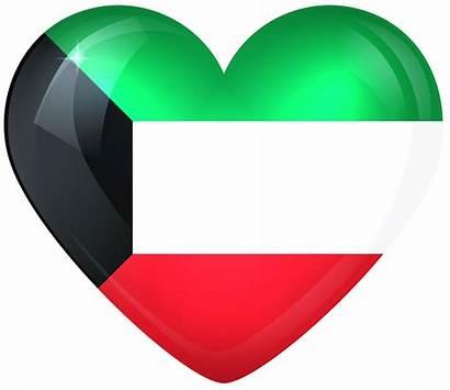 Kuwait Flag Heart Clipart National Flags American