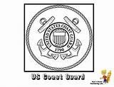 Coloring Pages Flag Guard Coast Army American Seal Print Yescoloring Boys Flags Ship Military Navy National Usa Armed Forces Veterans sketch template