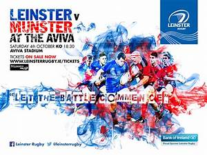 Leinster Rugby Leinster V Munster Tickets On Sale Now
