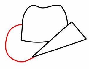 Drawing a cartoon cowboy hat