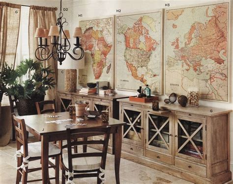 Vintage Map Decor! Def Doing This And Marking All The