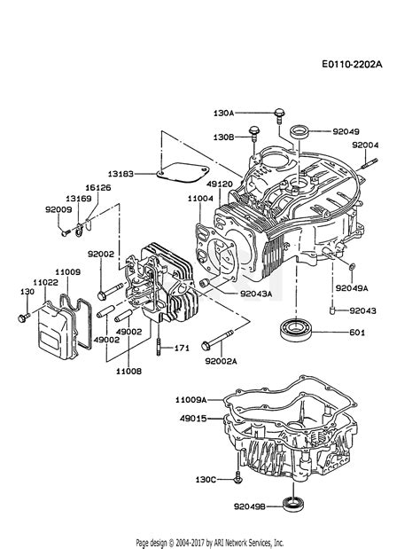 4 Engine Diagram by Kawasaki Fc420v As12 4 Stroke Engine Fc420v Parts Diagram