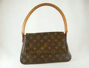 brown authentic louis vuitton mini looping monogram leather handbag bag purse clearance sold