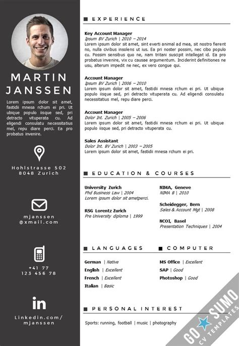 curriculum vitae layout template best 25 cv format in word ideas on pinterest creative