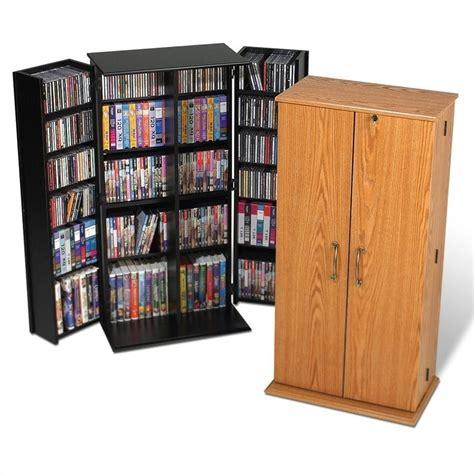 cd dvd storage cabinet prepac tall locking cd dvd media storage cabinet oak ebay