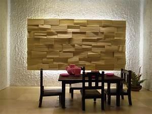 Revetement Bois Mural : rev tement mural en bois pierre et b ton 55 id es piquer ~ Melissatoandfro.com Idées de Décoration