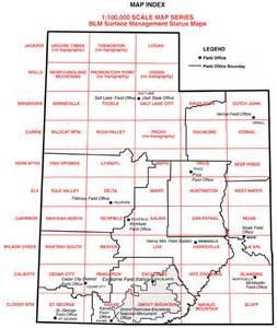 Utah BLM Maps Public Lands