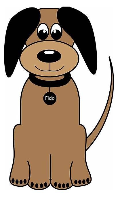 Dog Cartoon Clipart Fido Vector Animal Pet