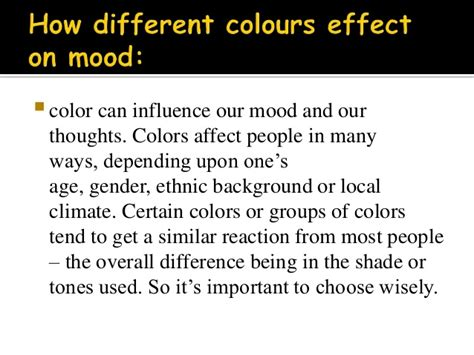 the effects of color on mood moods colors interior design
