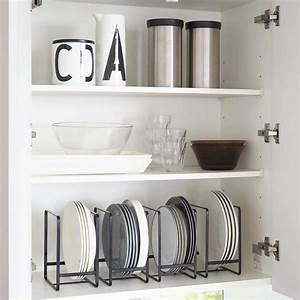 Assiette Noire Ikea : range assiette noir rangement vertical vaisselle ~ Teatrodelosmanantiales.com Idées de Décoration