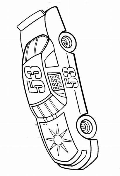 Nascar Coloring Pages Driver Coloring4free Drawing Number