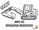 Coloring Pages Construction Vehicle Excavator Printable Digger Boys Cat Truck Machines Colouring Trucks Vehicles Yescoloring Templates 307c Books Bobcat Loader sketch template