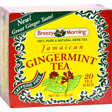 Breezy Morning Teas Jamaican Gingermint 20 Tea Bags