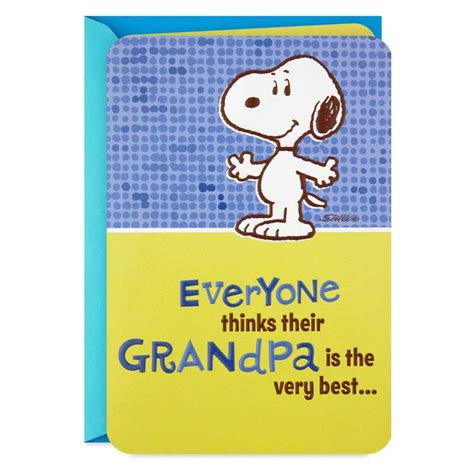 peanuts snoopy pop  fathers day card  grandpa
