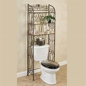 Kadalynn antique bronze bathroom space saver for Space savers for bathroom