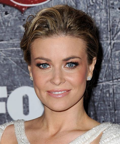 Carmen Electra Straight Formal Updo Hairstyle   Dark