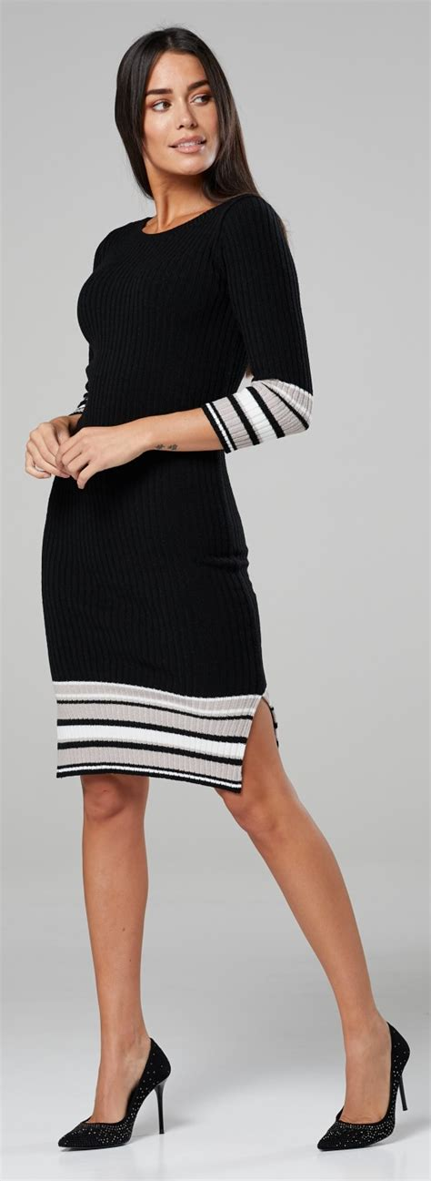 See what chelsea clark (chelscpht) has discovered on pinterest, the world's biggest collection of ideas. Chelsea Clark Women's Knit Midi Striped Dress 3/4 Sleeves Crew Neck.051 | eBay