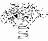 Coloring Treehouse Albero Colorare Sull Bestcoloringpagesforkids Lookout Casa Nature Disegni sketch template