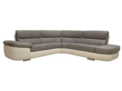 canapé blanc conforama canapé d 39 angle fixe droit 4 places alban coloris blanc