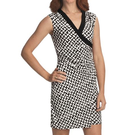 laundry by design laundry by design jersey wrap dress sleeveless for