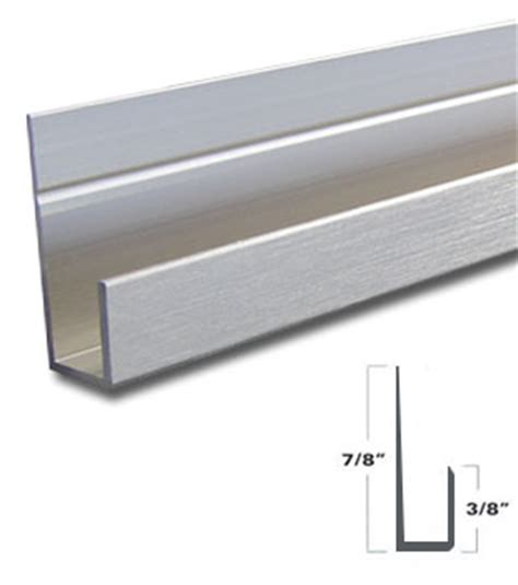 wgsonline brushed nickel aluminum  channel   mirror support   long