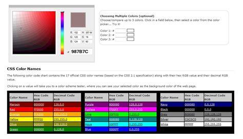 color codes css css color codes best css web colors codes scheme chart