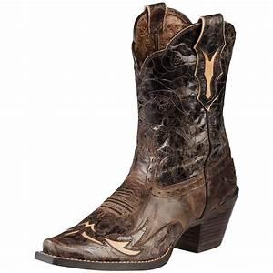 "Women's Ariat® 9"" Dahlia Cowboy Boots, Brown - 282503 ..."
