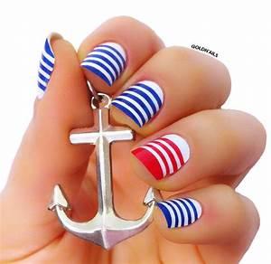 Sailor Nails nail art by Goldi - Nailpolis: Museum of Nail Art