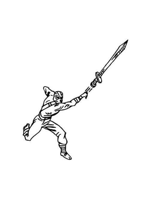 imprime le dessin  colorier de ninja