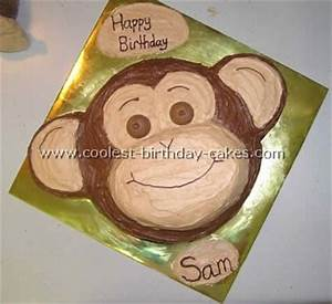 best 25 monkey cakes ideas on pinterest With monkey birthday cake template