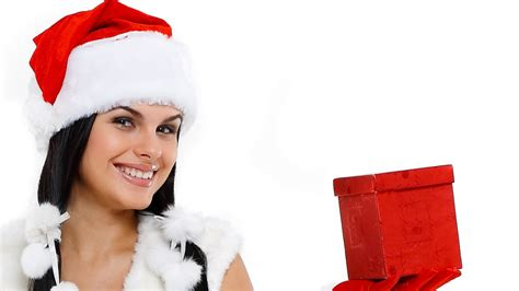 full hd wallpaper christmas hat smile box desktop