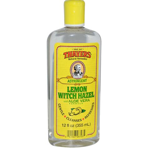 witch hazel image thayers witch hazel aloe vera formula astringent lemon 12 fl oz 355 ml iherb com