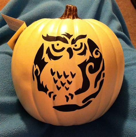 owl stencil pumpkin halloween spooktacular pinterest