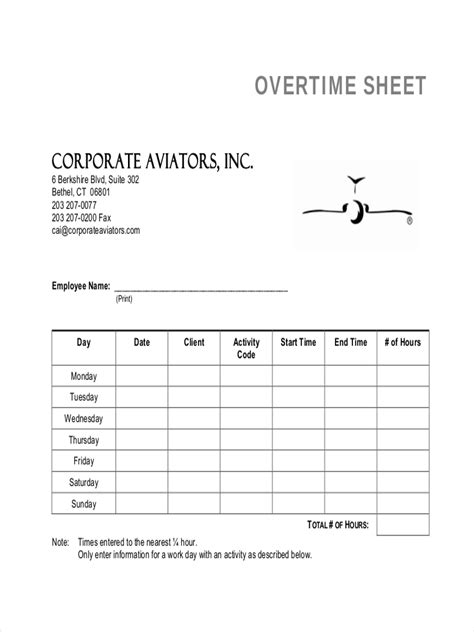 overtime sheet examples samples  google docs