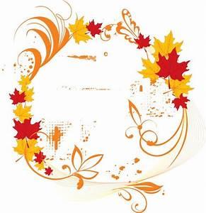 Vector Autumn Elegant Frame Backgrounds For PowerPoint ...