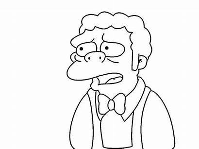 Simpsons Coloring Pages Para Dibujos Simpson Dibujar