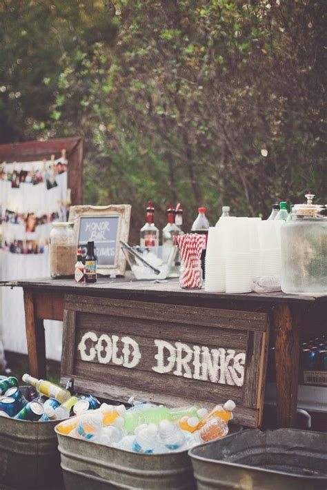 drink table decorating 15 creative ways to serve drinks for outdoor wedding ideas