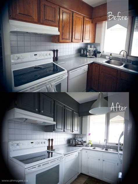 diy painting wood cabinets kitchen cupboard reno part